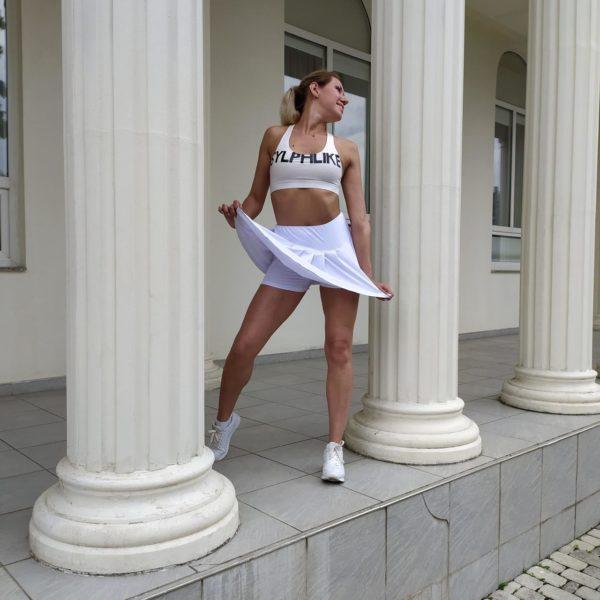 Юбка шорты белые