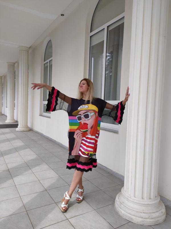 Платье ПопАрт арбуз