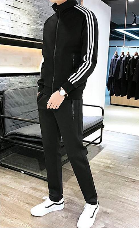 Спортивный костюм мужской черный классика спортивный костюм мужской черный