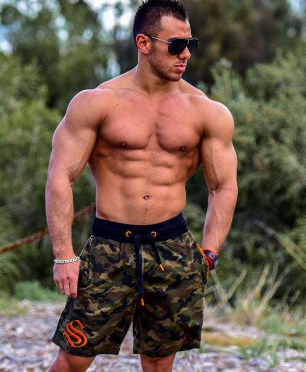 Шорты мужские милитари зеленые