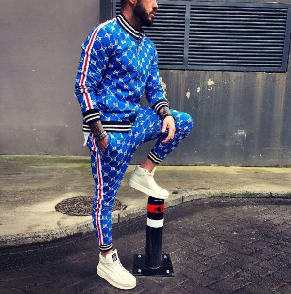 Спортивный костюм джентльмены светло-синий
